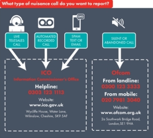 reporting nuisance calls